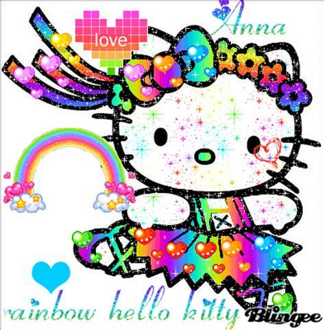 wallpaper hello kitty rainbow rainbow hello kitty for anna picture 102564324 blingee com