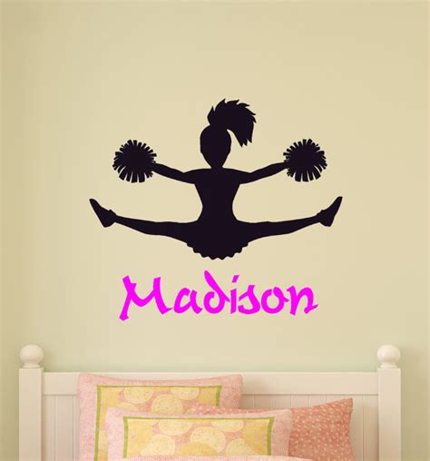teen room decoration personalized decors for teen rooms cheerleader wall decal girls bedroom personalized room decor