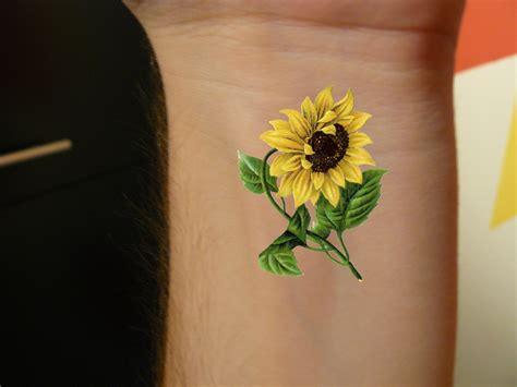 2 sunflower temporary tattoo vintage sunflower floral art