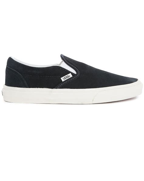 Adidas Slip On Suede Blue vans midnight blue suede slip ons in blue for lyst