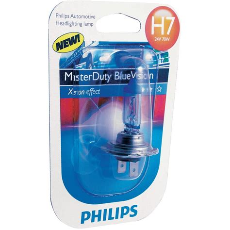 halogen bulb philips masterduty blue vision h7 70 w from