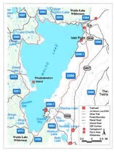waldo lake oregon map map of waldo lake area with trails and cgrounds the