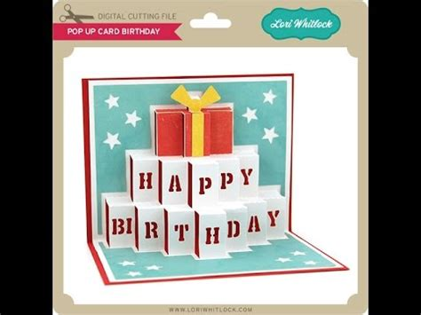 happy birthday cake pop up card template pop up card birthday