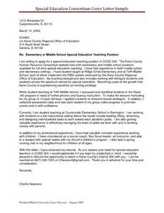 special education cover letter sle resumes for teaching ideas sle resume teaching
