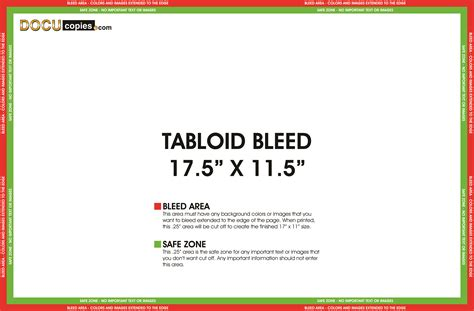 tabloid template learn about printing your next project with bleeds
