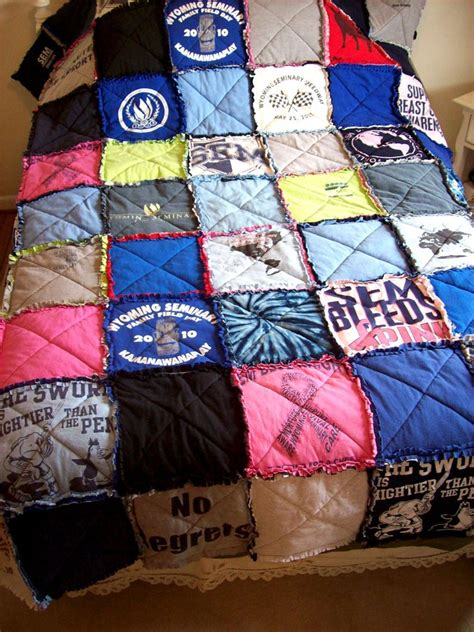 A Quilt Out Of T Shirts by Custom T Shirt Quilt Made From Your Own Tees Made To