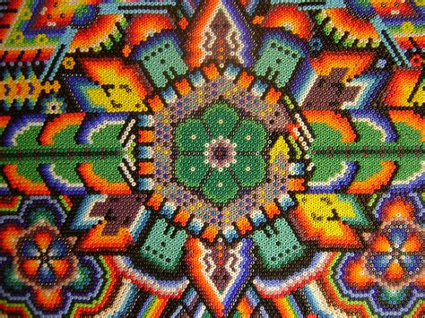 the classroom at rockland woods huichol yarn paintings
