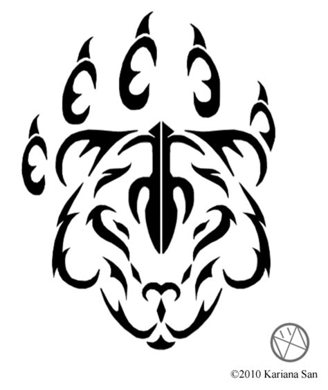 tribal bear tattoo stencil tattooshunt com