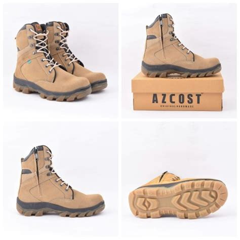 Azcost Delta Safety Leather Suede jual sepatu azcost delta safety boots kulit suede original