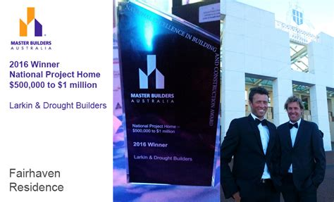 Mba Awards 2016 Winners by Fairhaven Residence Wins At The Master Builders Australia