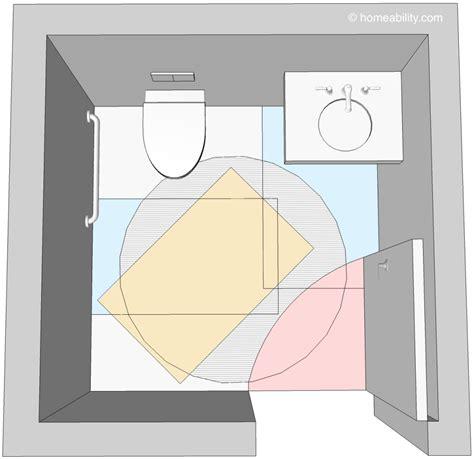 ada bathroom door swing clear floor space guidelines for accessible bathrooms