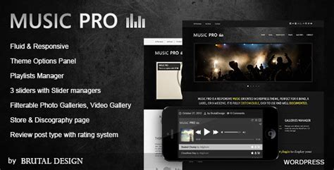 music pro music oriented wordpress theme by wolf themes