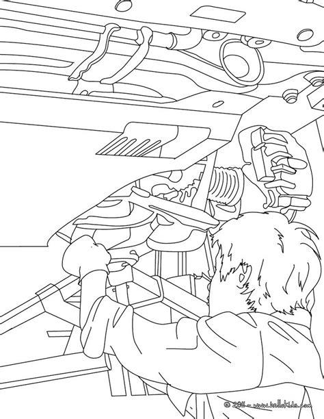 mechanic repares a car coloring pages hellokids com