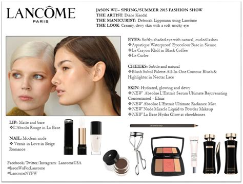 Lancome Backstage jason wu 2015 backstage makeup hair lancome