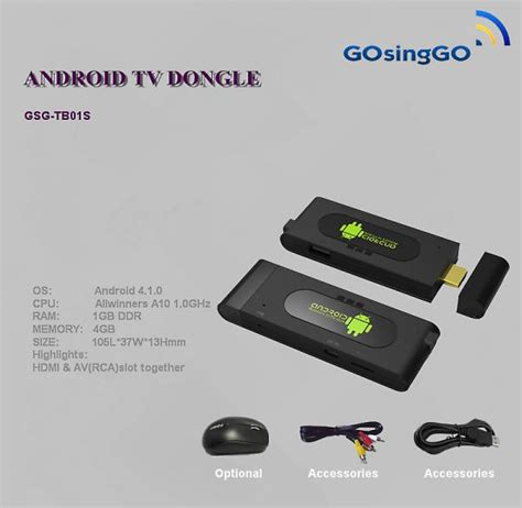 android hdmi stick android wifi usb tv stick hdmi rca of gosinggo