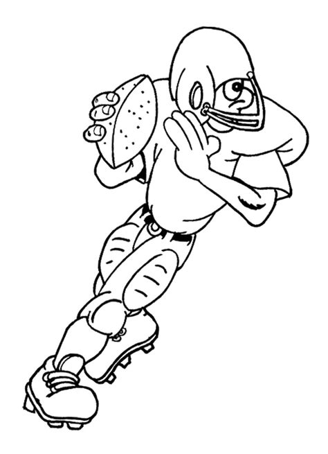 coloring page of football player coloring pages football player az coloring pages