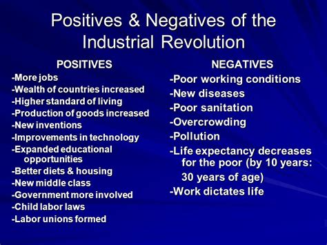 Positive And Negative Effects Of The Industrial Revolution Essay by Industrial Revolution Imperialism And Nationalism Ppt