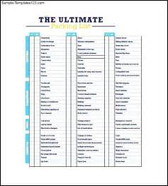 travel packing list template sle travel packing list template sle templates