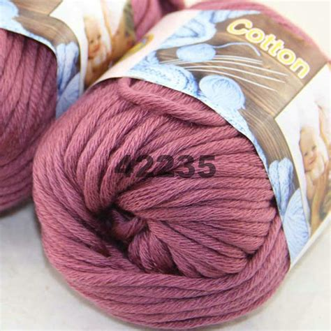 chunky cotton knitting yarn sale new 1 skeinx50g soft worsted cotton chunky