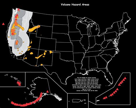 map of volcanoes in america american cross maps and graphics