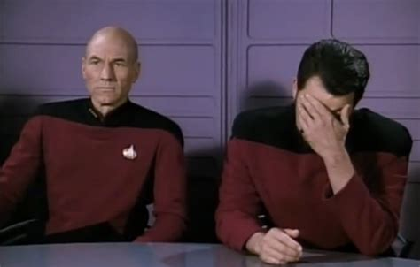 Star Trek Picard Meme - star trek which episode is the quot double facepalm quot image