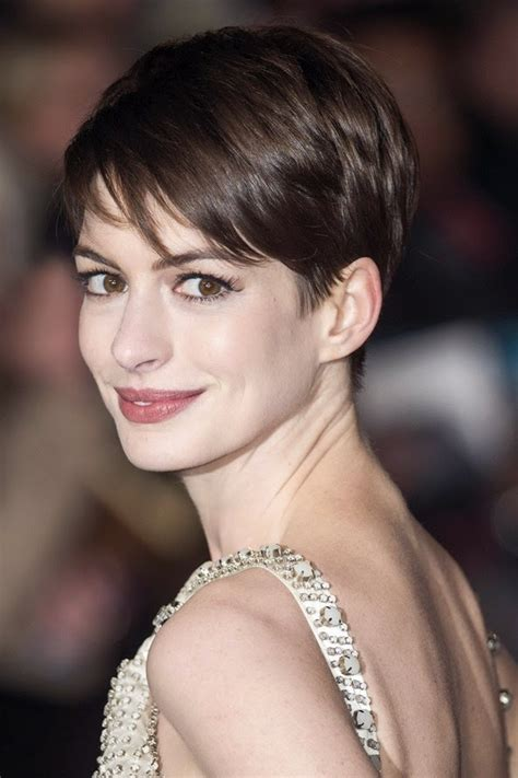 pixie cropped picture this back longer as a quot wedge quot cut anne hathaway pixie cut hairstyles inspirationseek com