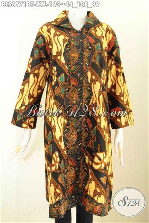 Terusan Daleman Pendek Kode 5906 baju batik wanita ukuran jumbo blus batik terusan big