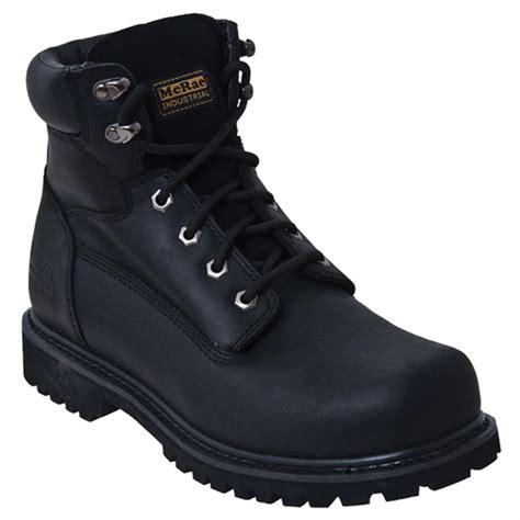 s mcrae 6 quot steel toe work boots black 591858 work