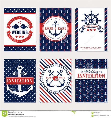 nautical wedding invitations stock vector image 70231555