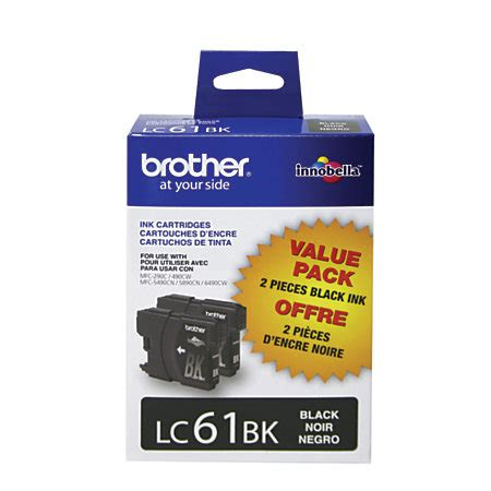 office depot coupons brother ink brother lc61bk black ink cartridges pack of 2 by office