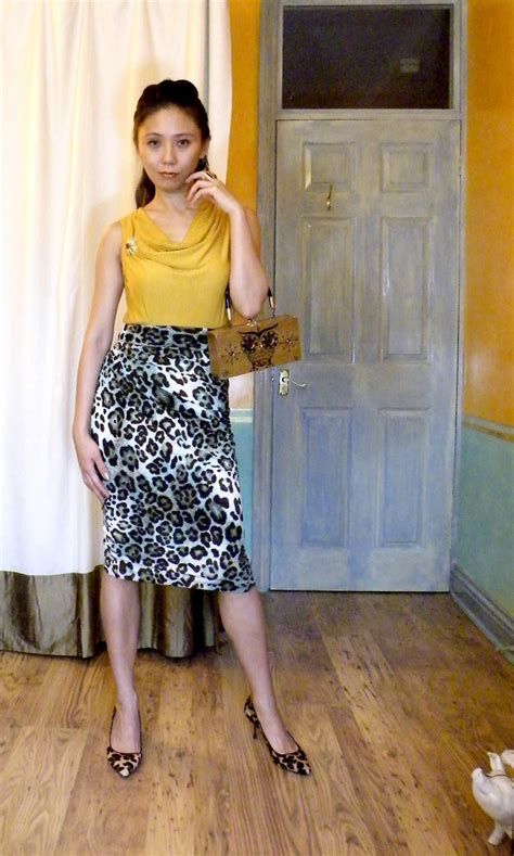Bs 4 Original psychedelic leopard skirt sewing projects burdastyle