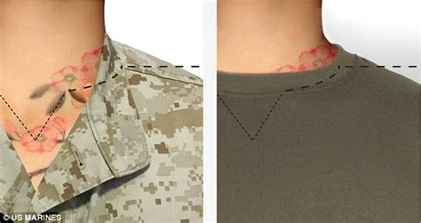 neck tattoo rules marines loosen up strict policy allowing unlimited tattoos