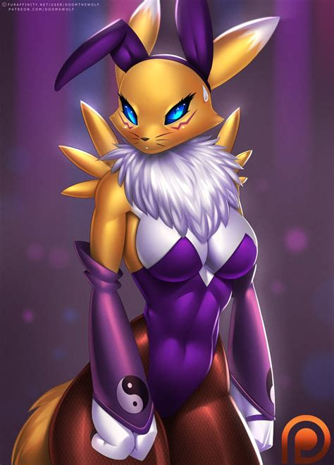 Reader Mail To Anthro Or Not To Anthro by Bunny Suit Renamon By Doomxwolf Deviantart On