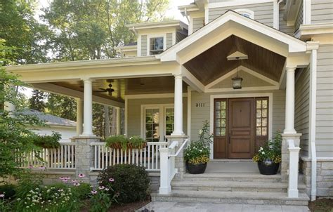 covered front porch plans front porch entrance designs porch farmhouse with red