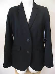 Connected Care Platinum Montana Health Co Op Womens Black Blazer M 8 New George Career Versatile Padded