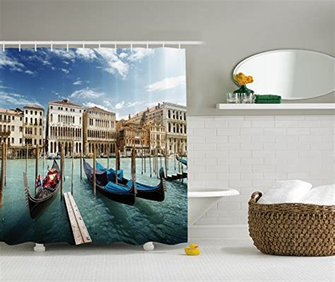 italian home decor accessories italian historic decor shower curtain set by ambesonne