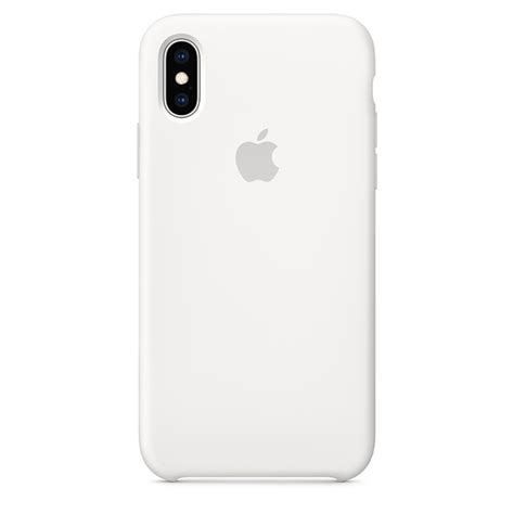 iphone xs silicone white apple