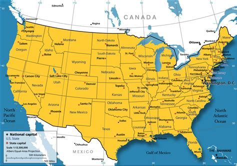 usa map free map of usa free large images