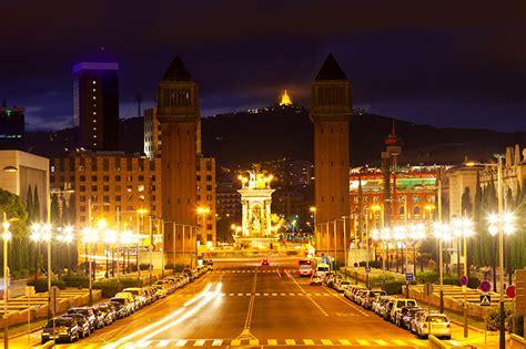 fondos de pantalla espana casa carreteras catalonia noche farola barcelona ciudades descargar
