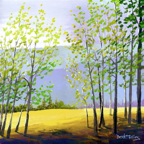 acrylic paint trees tree painting print acrylic painting of the forest by