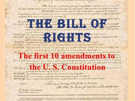 the of the constitution how the bill of rights became the bill of rights books bill of rights power point rev 1
