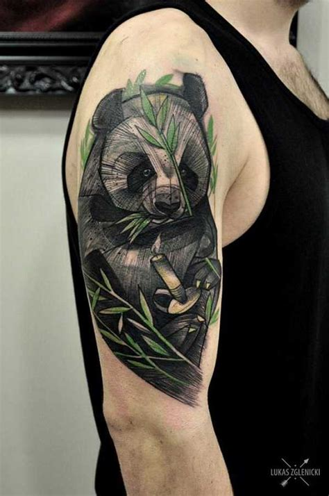blue panda tattoo 69 panda bamboo tattoos