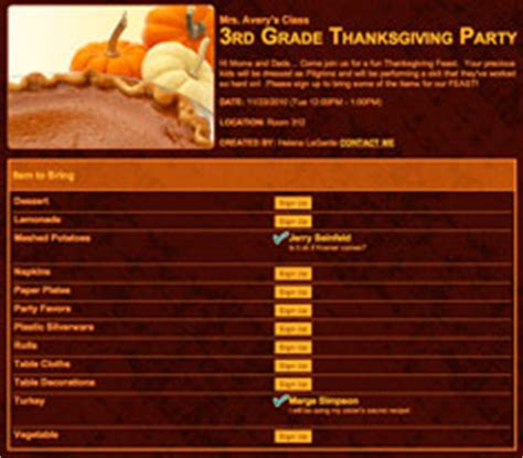 thanksgiving potluck signup sheet template thanksgiving sign ups for potlucks and more