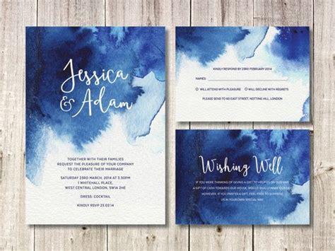 Blue Wedding Invitation Paper by Best 25 Blue Wedding Invitations Ideas On