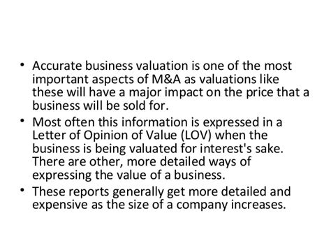 Appraisal Opinion Of Value Letter Corporate Advisory Services