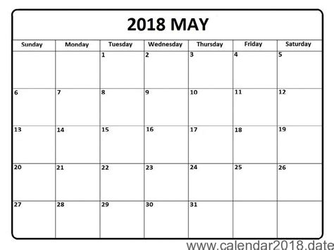 Free Printable Calendar 2018 Templates Download 2018 Free Calendar Template