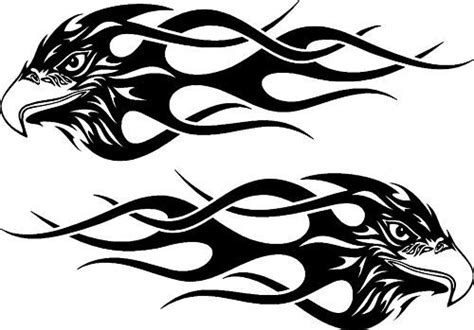 Fahrrad Aufkleber Flammen by Tribal Eagle Flames Car 4x4 Bike Window Stickers 2 Ebay