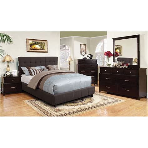 california king bedroom furniture set furniture of america janata 4 piece california king