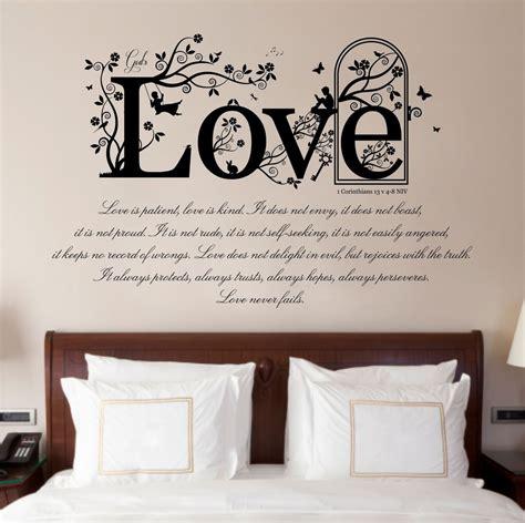 Bible V 4 1 corinthians 13 v 4 8 bible quote vinyl wall