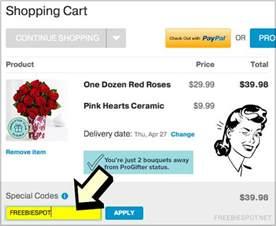 Pro Flowers Com Coupon Code - enter proflowers special code freebie spot